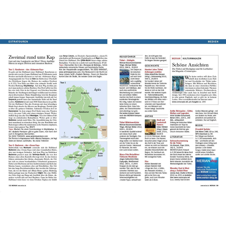 Türkische ägäis Karte.Merian Magazin Türkische ägäis 03 2013