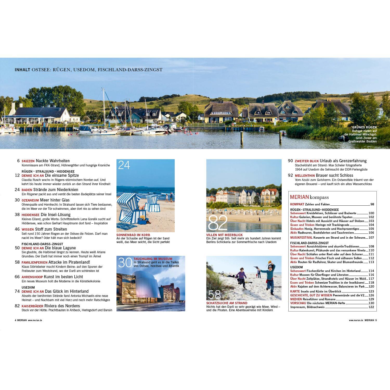 Merian Magazin Ostsee Rügen, Usedom, Darß 20/20